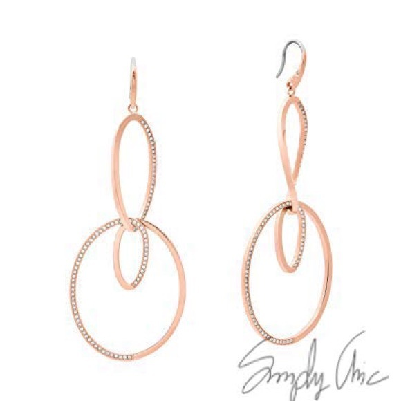 4d278982ba New MK powerful romance rose gold tone earrings